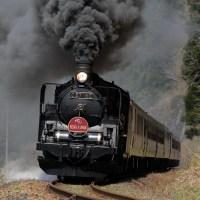 おっ、煙が黒い(磐西C57)
