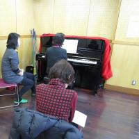 今日はピアノに行って