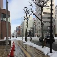 今朝の札幌市街地