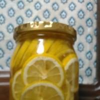 今朝の適当レモン酢