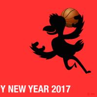 バスケットボールの年賀状イラスト