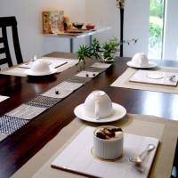 9月リクエストメニュー ムース・オ・マロンのテーブル