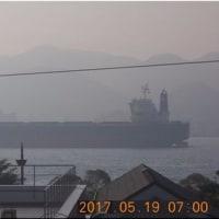 < 関門海峡 窓から スナップ>