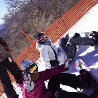 まさかの家族スキー
