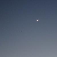 今夜も 金星と三日月です