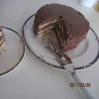 月変わりの買い出しと週末のチョコクリームケーキ作り