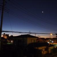 17/01/24  今朝のお月様  月齢25日目は土星とのコラボ!
