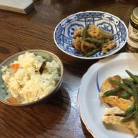 鶏&いんげんの葉わさびソース添え