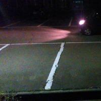 夜の車庫入れ練習