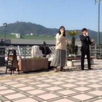 JR長崎駅前で路上ライブ