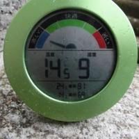 平成29年6月28日・今朝の東祖谷14.5℃