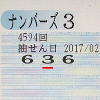 ナンバーズ3.4第4594回抽選結果