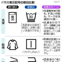 今日以降使えるダジャレ『2109』【経済】■タグ見てびっくり…洗濯表示、12月衣替え