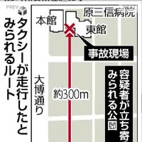 ブレーキ利かず、交差点2つ突っ切る…病院突入。3人死亡。福岡市博多区の原三信病院