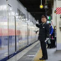 2017年元日の大宮駅新幹線ホームにて