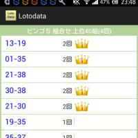 ロトデータシンプルのアプリにビンゴ5集計機能を追加しました。