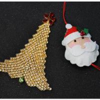 簡単なPandahallのクラフトアイデア―どのようにラインストーンビーズとチェーンでクリスマスツリーをDIYします
