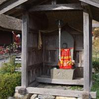 かやぶきの里、一斉放水(京都美山町)