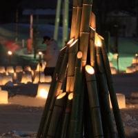 雪灯籠の光