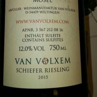 Van Volxemの苦味が感じられるベーシックなSaar Rieslingです。