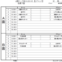 5/7(日) 4種リーグ 日程
