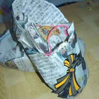 新聞紙の靴