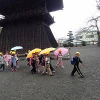 岩本山観察会:雨の中をお別れしました。