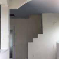 漆喰塗りの準備作業。