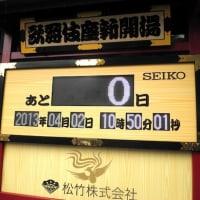 夢を見た日 ~新しい歌舞伎座 初日の第一部へ~