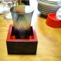 自宅 切子グラス 日本酒