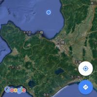 やっとこさ 厚田沖へ