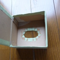アマゾンの箱→エコティッシュケース♡試作品完成!