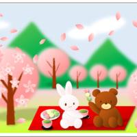 リビングから見える桜満開