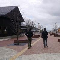 桜散る仙台で(2)女川の春の一齣を見ながら!