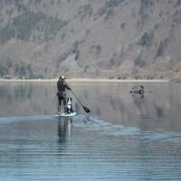 本栖湖で湖上散歩