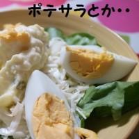 朝食みたいな晩飯(^^♪