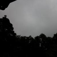 湿度は高いようだ。真っ青な空、真っ黒な空。