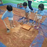 あお 3歳児 粘土遊び・共同製作☆