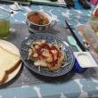 朝飯。超ヘルシー食。いただきます。