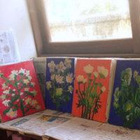 油絵の絵画制作