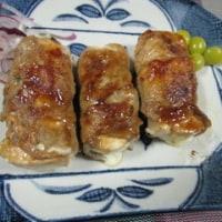 豆腐とキノコのロール巻き