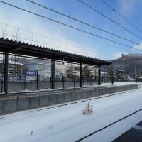 軽井沢のいろいろ 軽井沢で真冬の駅を守る・・ 中軽井沢駅