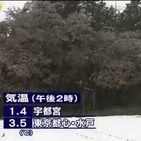 4月8日は真冬の気温となった 2015年