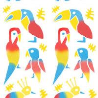 「パターン」南国の鳥(テキスタイルデザイン)