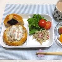 ごまマヨごぼうパンで朝ごはんと 息子の進学先 決定〜