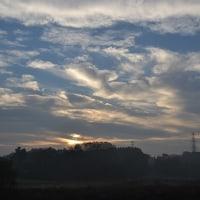 12月6日、午前7時~8時過ぎの空模様