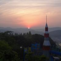 美咲町の日の出と夕景