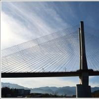 「秩父公園橋」(秩父ハープ橋)(埼玉県秩父市中村町) ★ 2016.12.04 ★