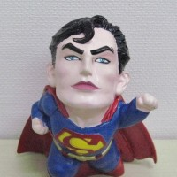 にしざわ貯金箱かん つれづれ雑記(レトロなスーパーマン貯金箱)