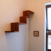 階段式棚を制作&取り付け